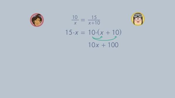 Gebrochen rationale Gleichungen lösen