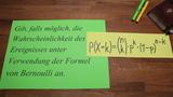 Formel von Bernoulli - Grundaufgaben
