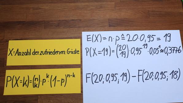 Binomialverteilung - Erwartungswert und Wahrscheinlichkeit