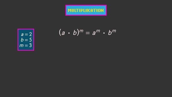 Multiplikation und Division von Potenzen