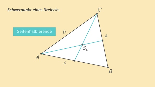Mittelpunkt einer Strecke und Schwerpunkt eines Dreiecks