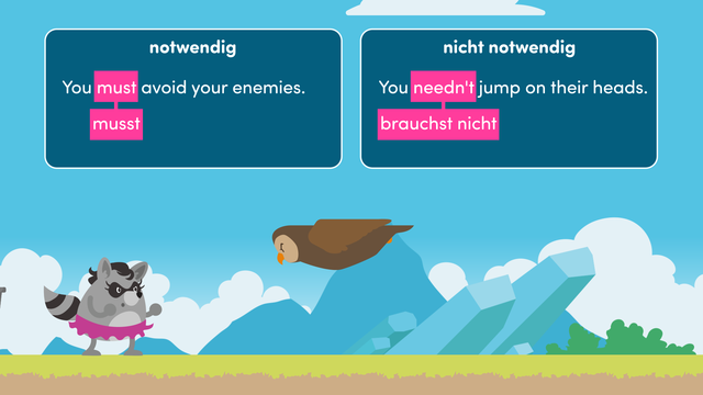 Modal Verbs – must and needn't