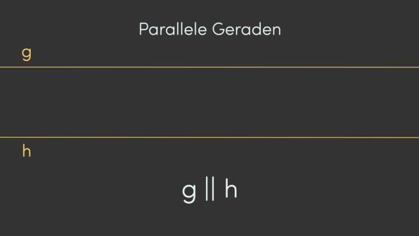 Parallele und orthogonale / senkrechte Geraden – Definition