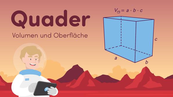 Quader – Volumen und Oberfläche