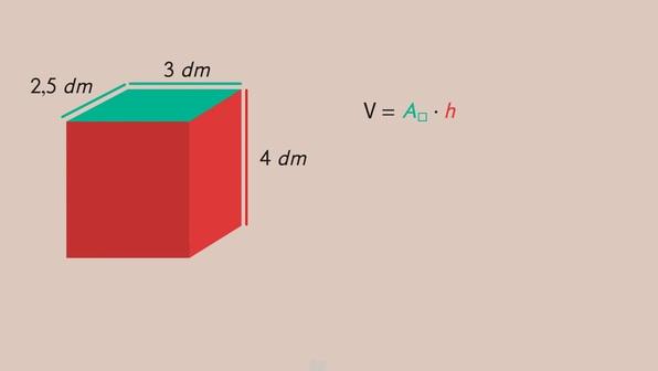 Volumen von Körpern – Grundfläche und Höhe