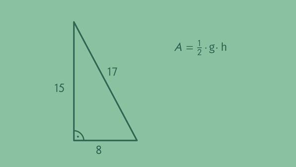 Flächeninhalt von rechtwinkligen Dreiecken