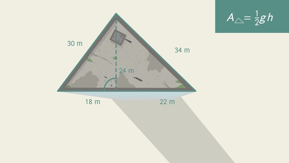 Flächeninhalt von Dreiecken berechnen