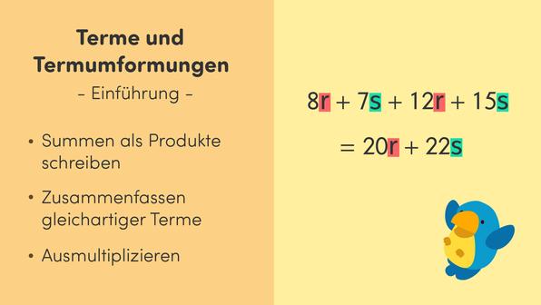 Terme und Termumformungen