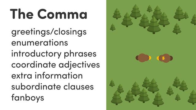 Punctuation – Das Komma