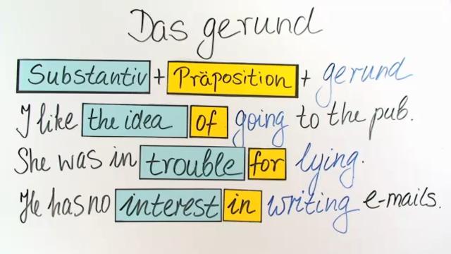 Gerund: nach Präpositionen – Englisch in 4 Minuten erklärt.