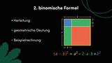 Zweite binomische Formel