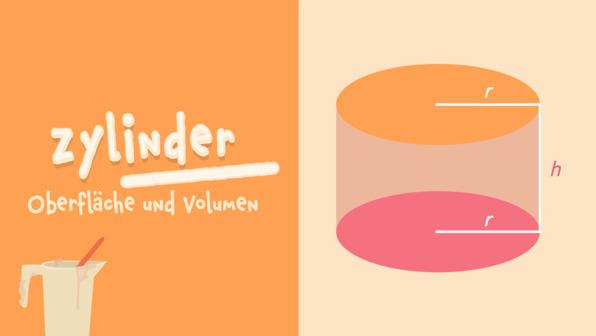 Zylinder – Volumen und Oberfläche