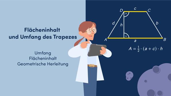 Flächeninhalt und Umfang des Trapezes