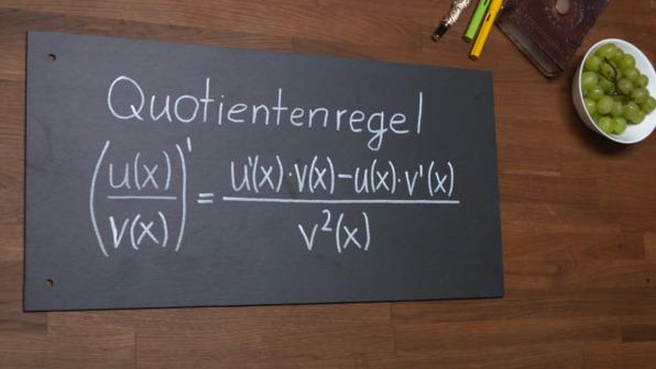 Quotientenregel - Herleitung und Beispiel