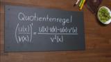 Quotientenregel – Herleitung und Beispiel
