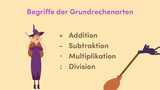 Begriffe bei Addition, Subtraktion, Multiplikation und Division
