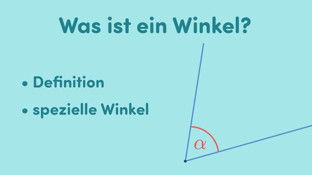 Was ist ein Winkel?