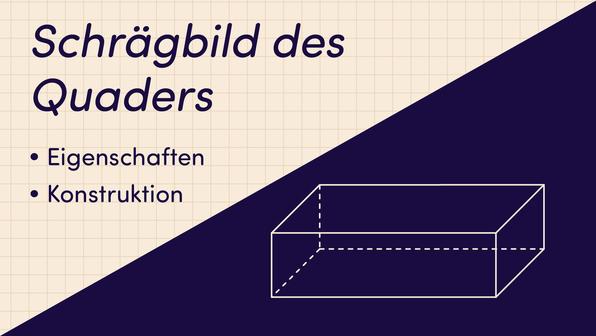 Schrägbild des Quaders