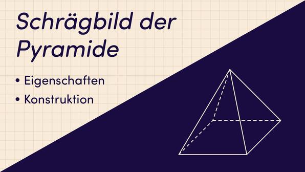 Schrägbild der Pyramide