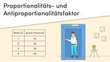 Proportionalitätsfaktor und Antiproportionalitätsfaktor