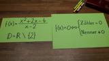 Gebrochenrationale Funktionen - Nullstellen