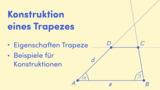 Konstruktion eines Trapezes