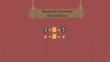 Neutrale Elemente, Gegenzahlen und Kehrwerte