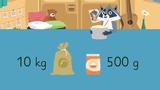 Gewichte umwandeln und vergleichen