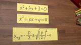 pq-Formel für quadratische Gleichungen