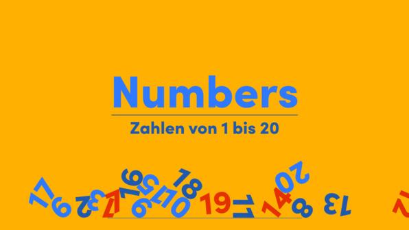 Numbers – Zahlen von 1 bis 20