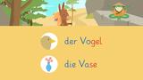 Wörter mit V – Vogelwörter und Vasenwörter