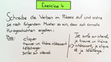 Konjugationen im Präsens - Übungsvideo (2)