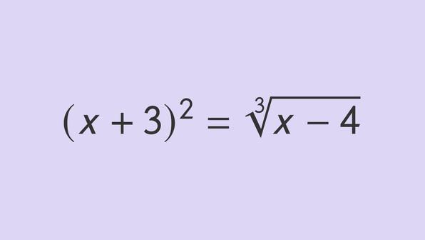 Gleichungsumformungen mit Potenzen und Wurzeln
