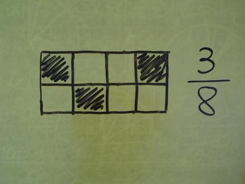 Teilflächen von Vierecken als Brüche ausdrücken