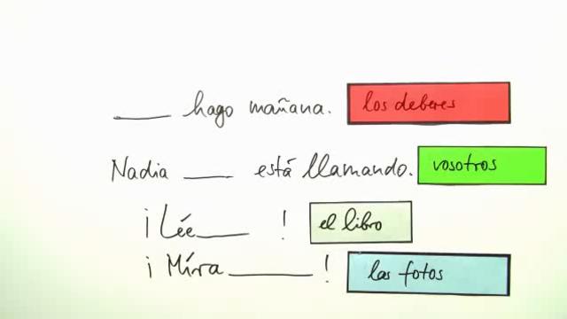 bungen zu direkten und indirekten objektpronomen spanisch online lernen. Black Bedroom Furniture Sets. Home Design Ideas