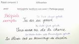 """Passé Composé – unregelmäßige Verben mit """"avoir"""" (1)"""