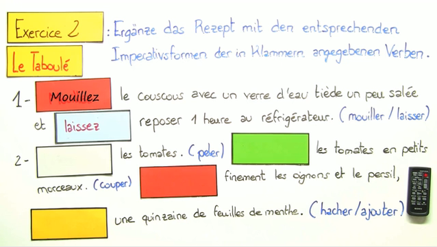 Imperativ (Übungsvideo)