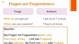 Asking Questions - Fragen formulieren