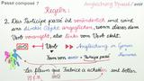 """Passé Composé – Angleichung des Participe Passé bei Verben mit """"avoir"""""""