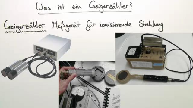Geigerzähler – Messen der Radioaktivität