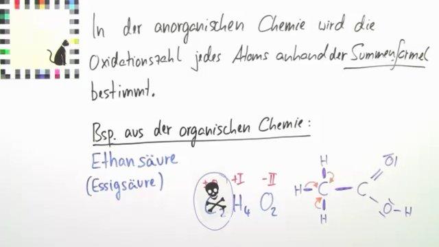 Oxidationszahlen in organischen Molekülen – Chemie online lernen