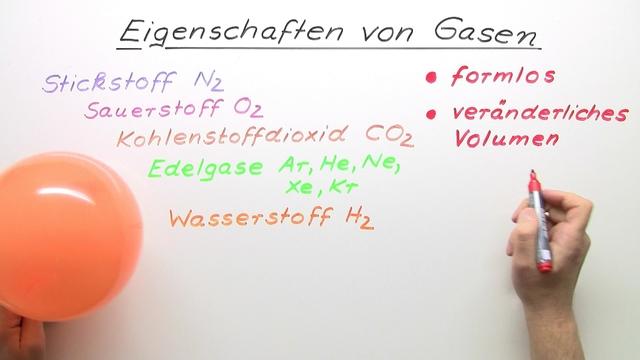 Eigenschaften von Gasen
