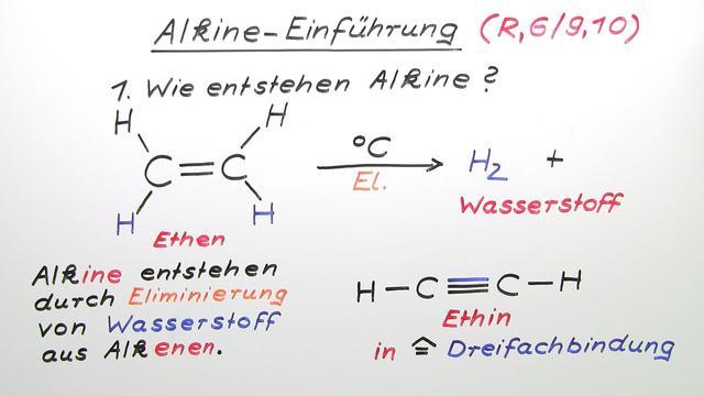 Alkine – Einführung