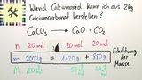 Herstellung von Calciumcarbonat – Berechnung (Übungsvideo)