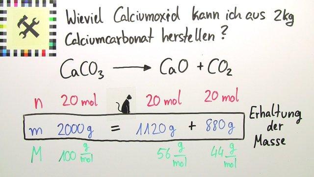 Herstellung von Calciumcarbonat – Berechnung (Übungsvideo) – Chemie ...