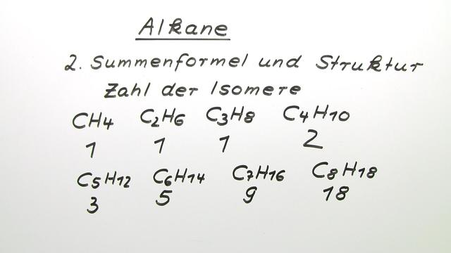 Alkane – Eigenschaften