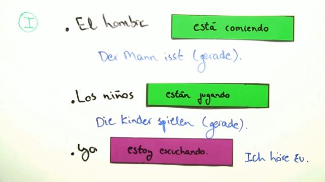 Estar + Gerundium (Übungen)