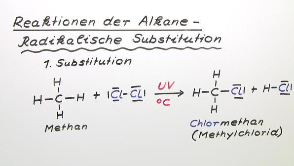 Reaktionen der Alkane – Radikalische Substitution