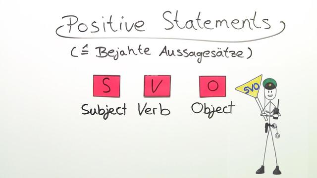 Satzarten: Positive Statements, Negative Statements and Imperatives