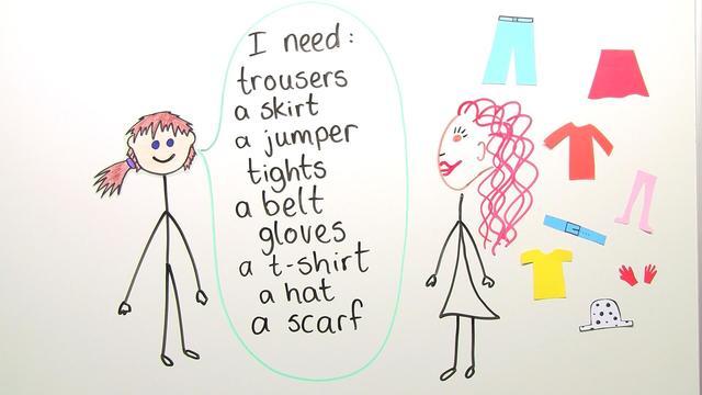 Kleidung einkaufen – Shopping for Clothes